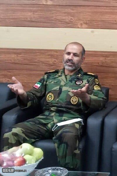 دیدار مدیرکل حفظ آثار دفاع مقدس لرستان با فرمانده تیپ ۲۸۴ شهید رستمی